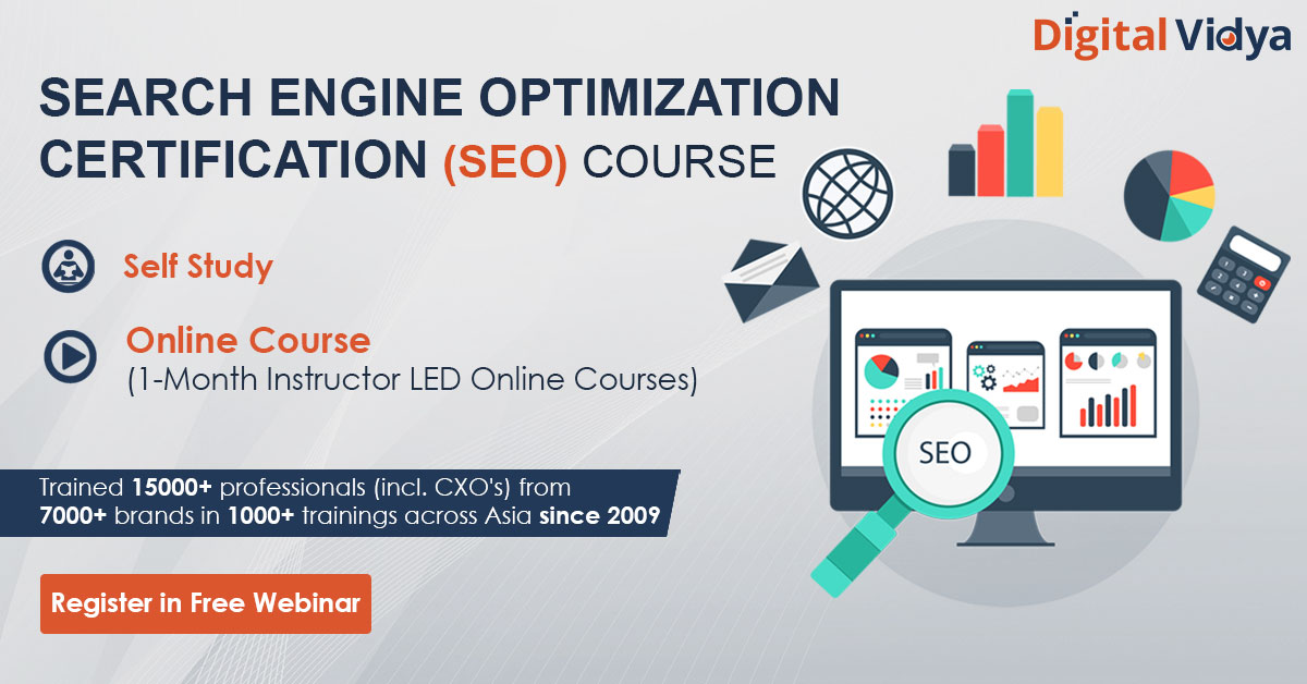Best SEO Course - SEO Certification Training