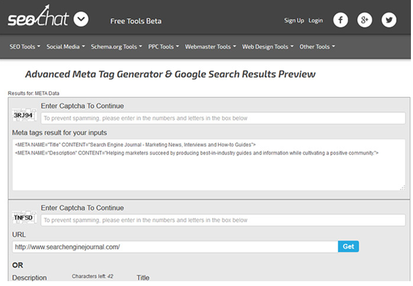 Details at http://tools.seochat.com/tools/metatags-google-preview/