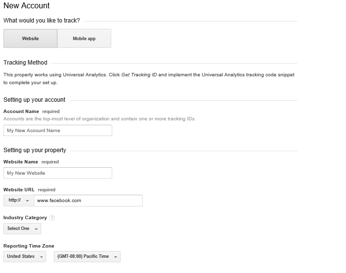 Add Google Analytics Account