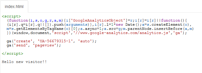 Paste Google Analytics Code