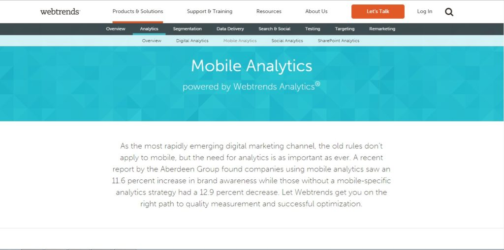 Details at http://www.webtrends.com/products-solutions/analytics/mobile-analytics-use-cases/