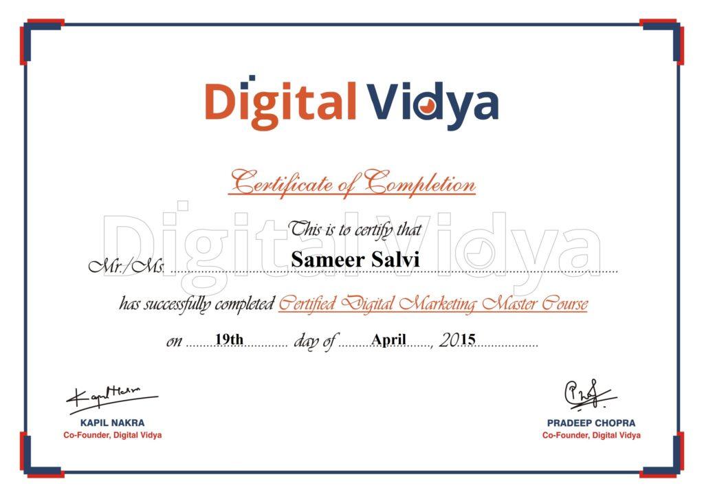CDMM certificate-Sameer Salvi