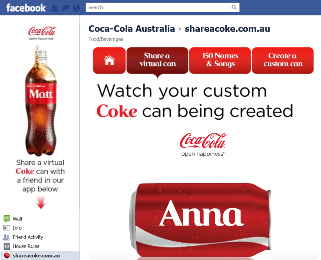 "a discussion on the 2014 coca cola campaign share a coke 3 marketing lessons from the ""share a coke"" campaign  from coca-cola's ""share a coke"" campaign success  virtual coke bottles by september 2014 coca ."