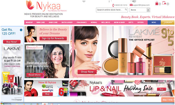 nykaa gained 50 000 unique visitors in a month via digital marketing. Black Bedroom Furniture Sets. Home Design Ideas