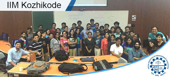 Digital Marketing Workshop for IIM Kozhikode