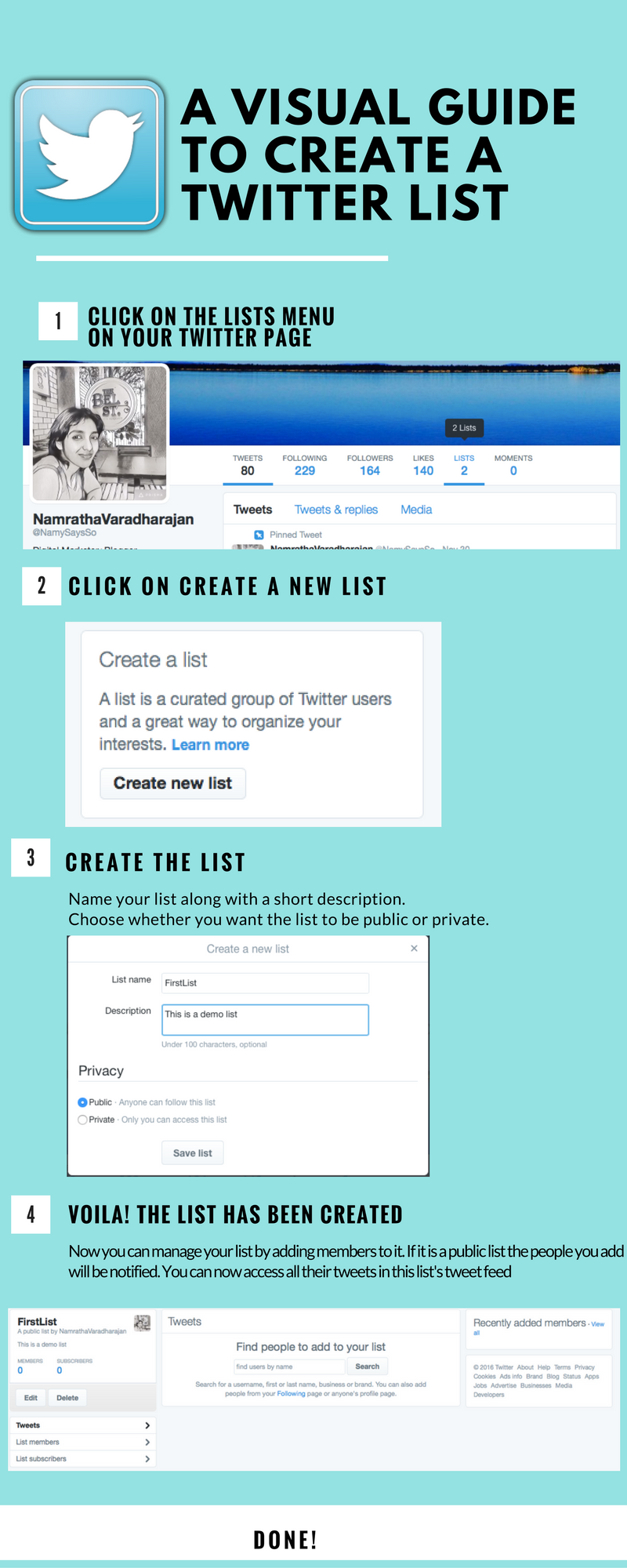 Twitter Lists for business marketing:Creation