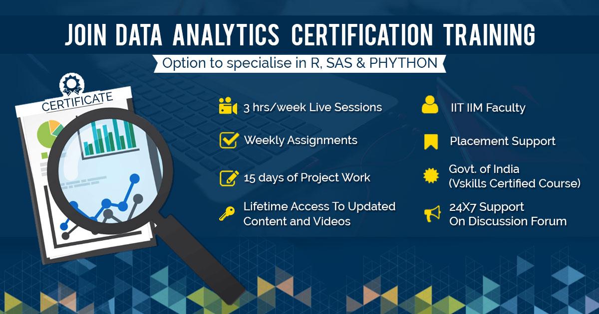 Data Analytics Course Data Analytics Certification Training