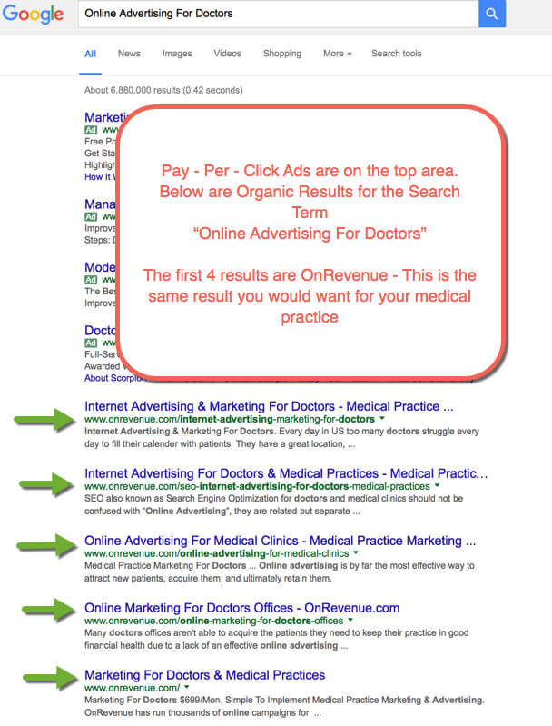 [Image2- Example of online advertising for doctors- source- onrevenue]