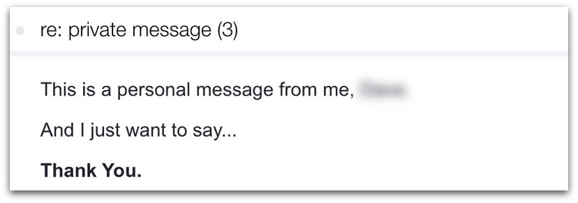 private email message