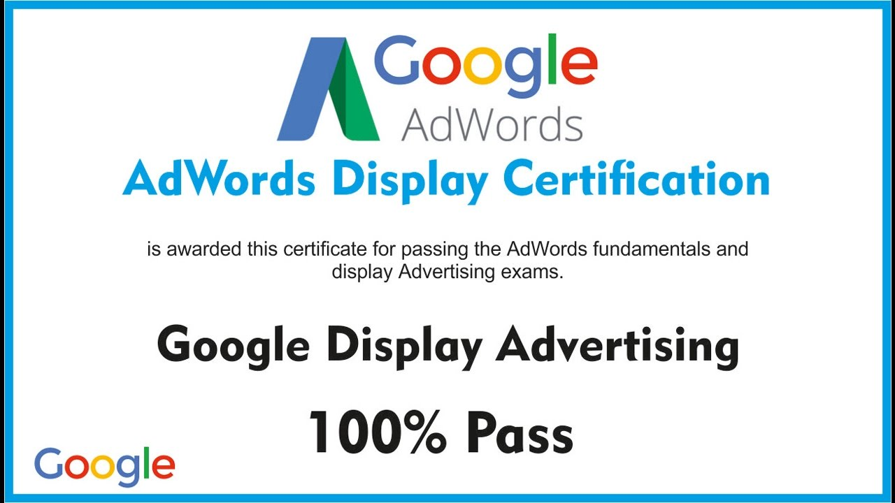 Google Exam | google ad-words certification exam | google all certification exam