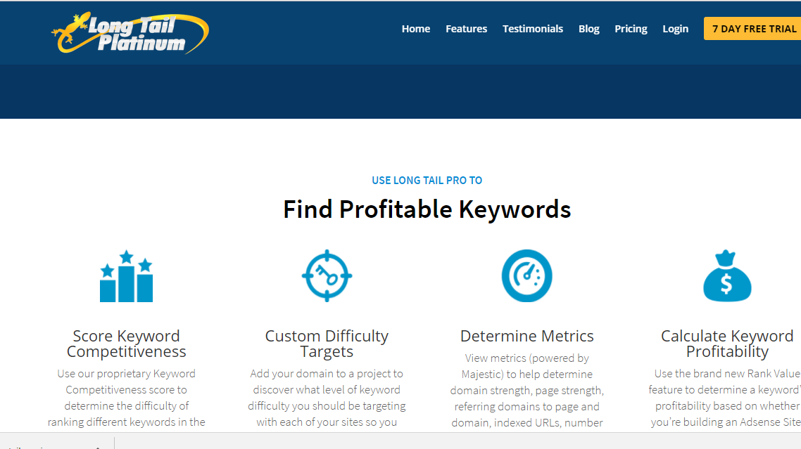 features long tail keyword finder