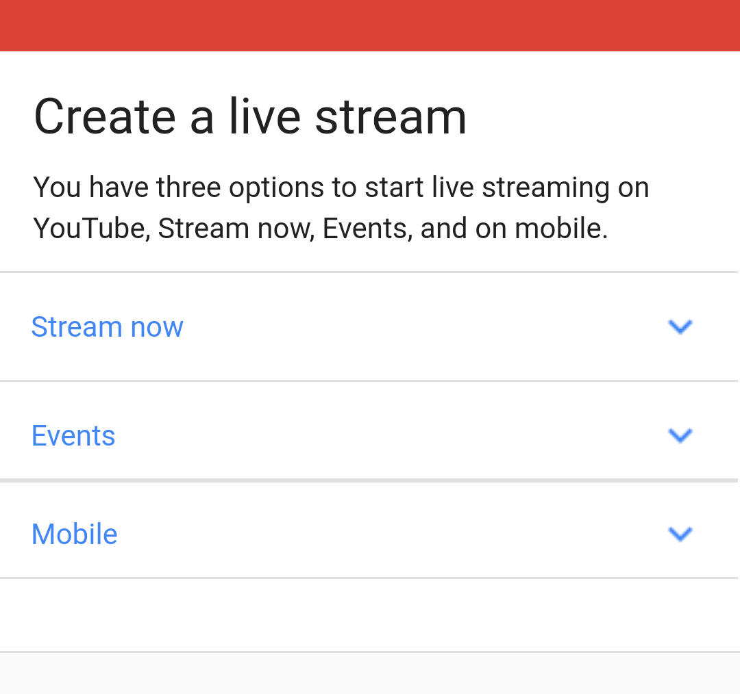 YouTube Live Video
