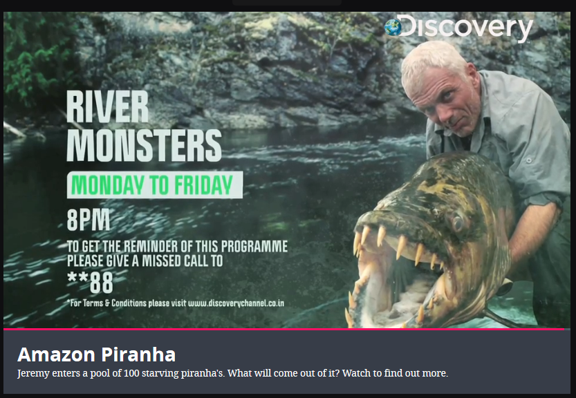 River Monsters Website screenshot