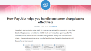 A snippet from PayU blog on chargebacks