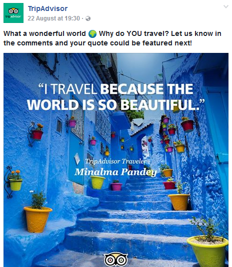 tripadvisor and ugc At tripadvisor, we believe in the power of travel — and in helping you make the most of every trip with over 500 million candid traveler reviews, we can help you make the right choice when.