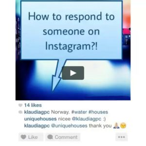 Responding on Instagram