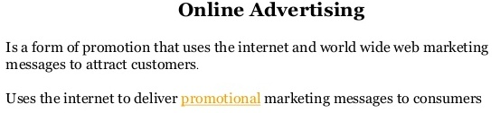 What is Online Marketing