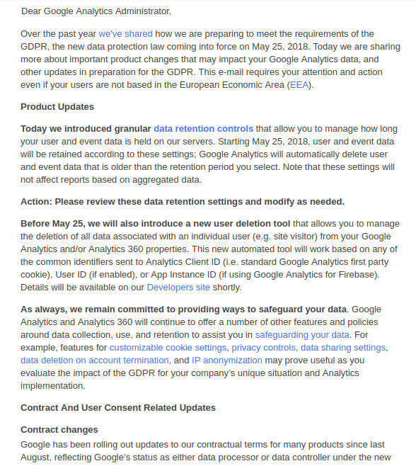 Google Analytics GDPR