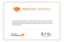 Inbound Marketing Certification 557c9845c902ea063a79a631123d3285