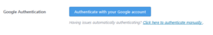 Authentification with Google
