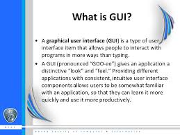 What is a GUI?