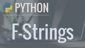 Formatting with F strings