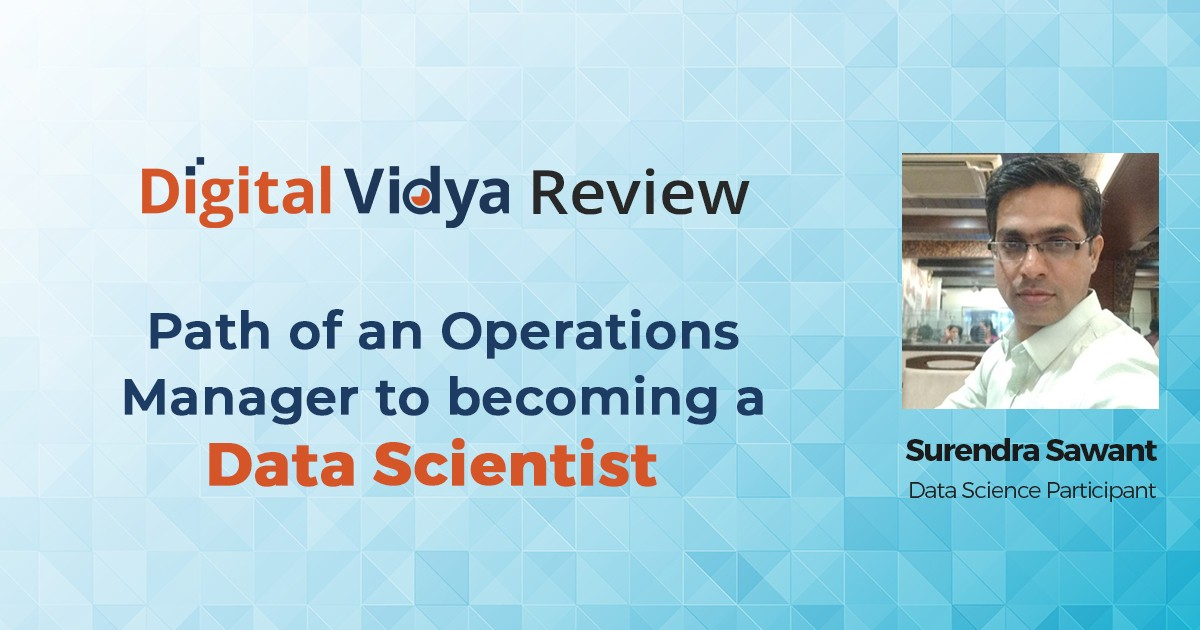 How Surendra Sawant Learnt Data Science in 4 Months?