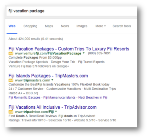 Example of Paid Search