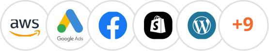 digital marketing softwares logos